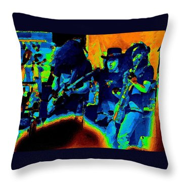 Throw Pillow featuring the photograph L S Pastel Oakland 2 by Ben Upham