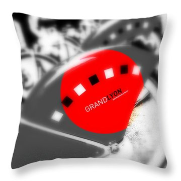 Lyon Bikes For Rent Throw Pillow by Funkpix Photo Hunter