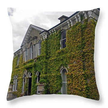 Lyrath Estate Hotel Throw Pillow by Cindy Murphy - NightVisions