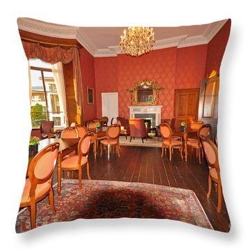 Lyrath Estate Hotel Dining Throw Pillow by Cindy Murphy - NightVisions