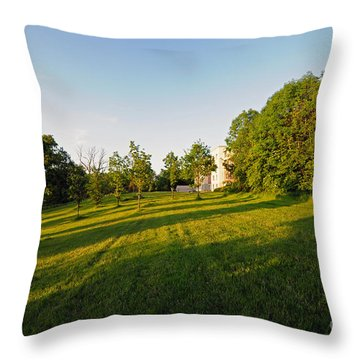 Lyrath Estate Hotel Grounds Throw Pillow by Cindy Murphy - NightVisions
