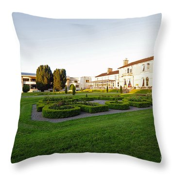 Lyrath Estate Hotel Grounds Kilkenny Throw Pillow by Cindy Murphy - NightVisions