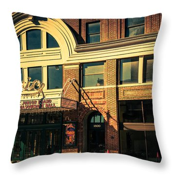 Lyric Theater Throw Pillow by Phillip Burrow
