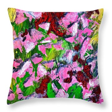 Lyrical Abstraction 201 Throw Pillow