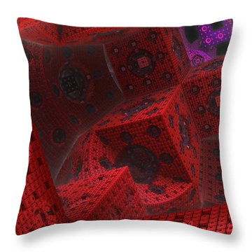 Throw Pillow featuring the digital art M Cubed by Lyle Hatch
