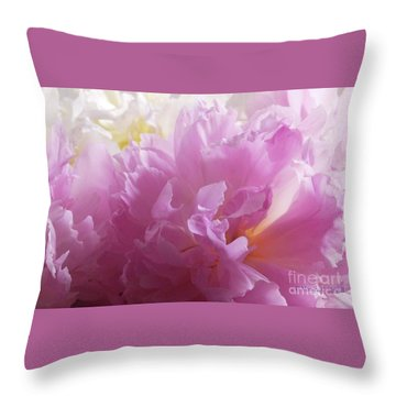 M Shades Of Pink Flowers Collection No. P72 Throw Pillow
