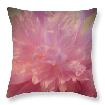 M Shades Of Pink Flowers Collection No. P78 Throw Pillow
