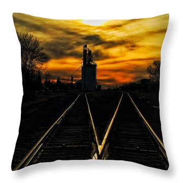 M Track Throw Pillow