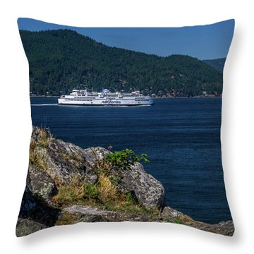 M/v Queen Of Cowichan Throw Pillow