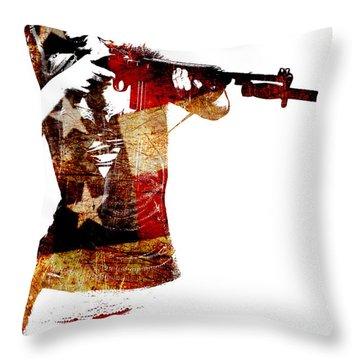M1 Carbine And Bayonet Throw Pillow