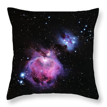 M42--the Great Nebula In Orion Throw Pillow by Alan Vance Ley