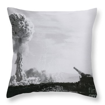 M65 Atomic Cannon Throw Pillow by Science Source