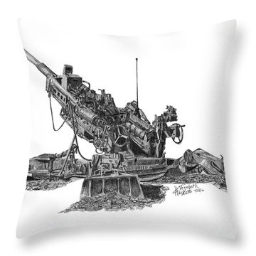 M777a1 Howitzer Throw Pillow
