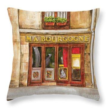 Ma Bourgogne Throw Pillow by Debbie DeWitt