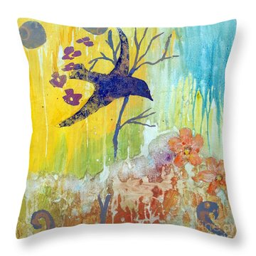 Ma Doh Bird Soars Throw Pillow