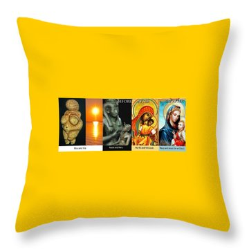 Ma Ra Evolution Throw Pillow
