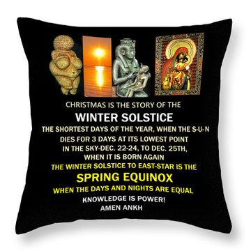 Ma Ra Solstice Throw Pillow