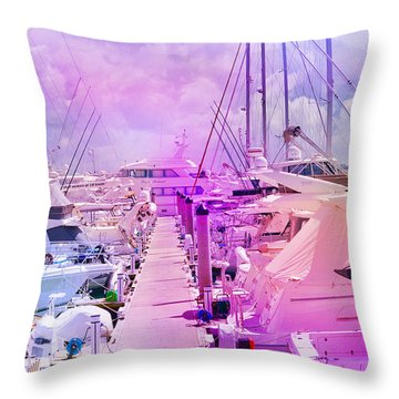Marina In The Morning Glow Throw Pillow