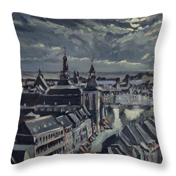 Maastricht By Moon Light Throw Pillow
