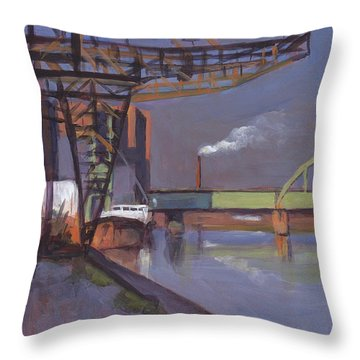 Maastricht Industry Throw Pillow by Nop Briex