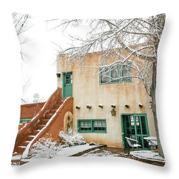 Throw Pillow featuring the photograph Mabel Dodge House 2 by Marilyn Hunt