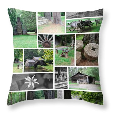 Mabry Mill Throw Pillow by Eric Liller