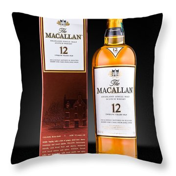 Macallan Single Malt Whisky Throw Pillow by Mihai Andritoiu