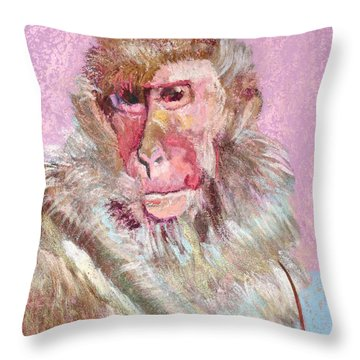 Macaque Throw Pillow