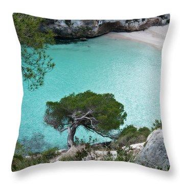 Macarelleta Turquoise Jewell By Pedro Cardona Throw Pillow