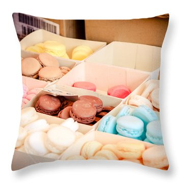 Throw Pillow featuring the photograph Macaroooons by Jason Smith