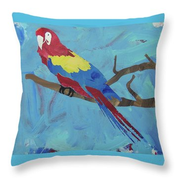 Throw Pillow featuring the painting Macaw by Candace Shrope