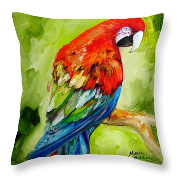 Macaw Tropical Throw Pillow