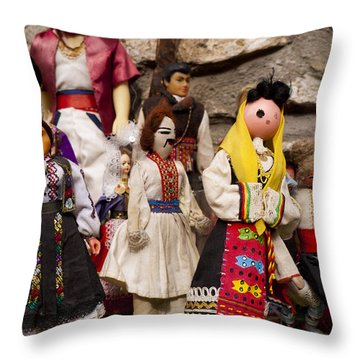 Macedonian Dolls Throw Pillow by Rae Tucker