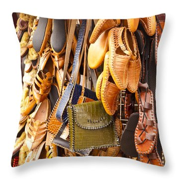 Macedonian Shoes Throw Pillow by Rae Tucker