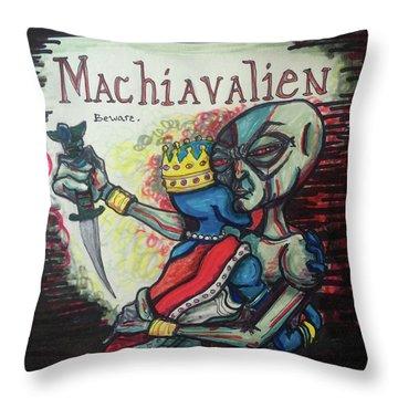 Machiavalien Throw Pillow