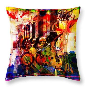 Machine Age-1 Throw Pillow