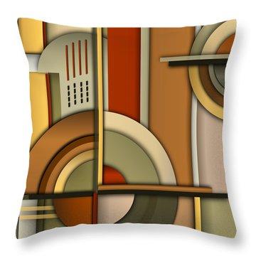 Machine Age Throw Pillow by Tara Hutton