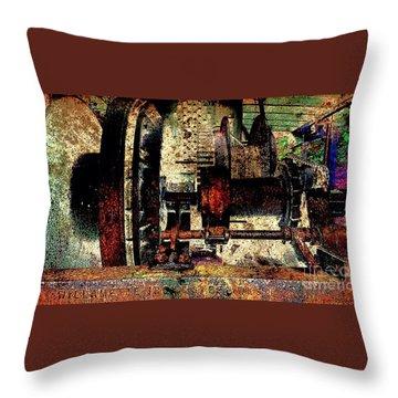 Machine Art Throw Pillow