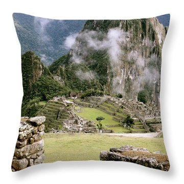 Machu Picchu In The Morning Light Throw Pillow