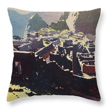 Machu Picchu Morning Throw Pillow
