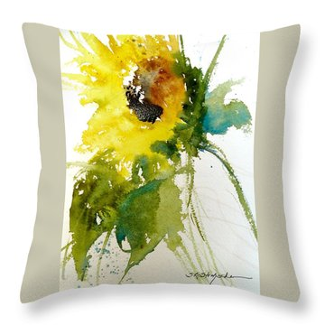 Maci's Sunflower Throw Pillow