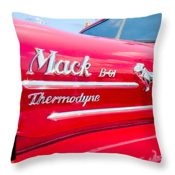 Mack Truck Hood Badges Throw Pillow