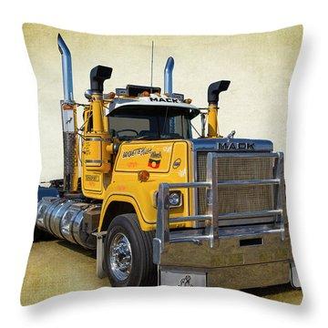 Mack Truck Throw Pillow