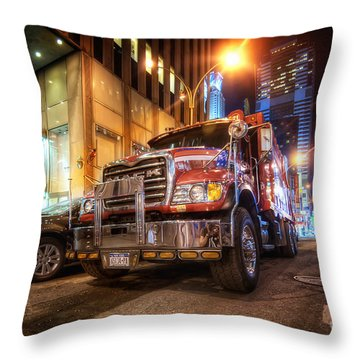Mack Truck Nyc Throw Pillow