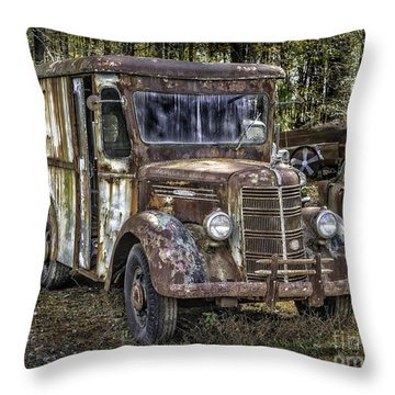 Very Old Mack Truck Throw Pillow