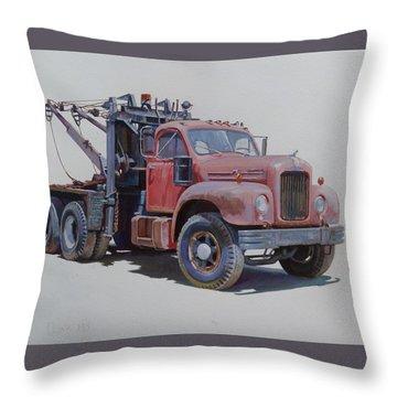 Mack Wrecker. Throw Pillow by Mike  Jeffries
