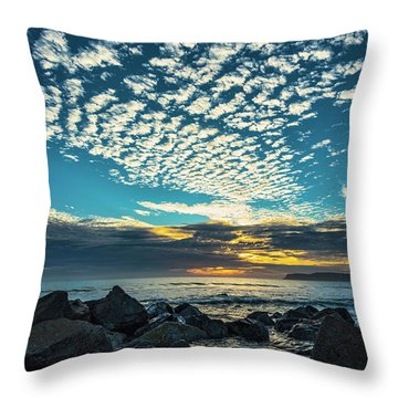 Throw Pillow featuring the photograph Mackerel Sky by Dan McGeorge