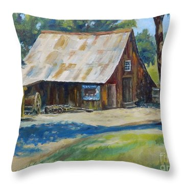 Mackey's Barn Throw Pillow