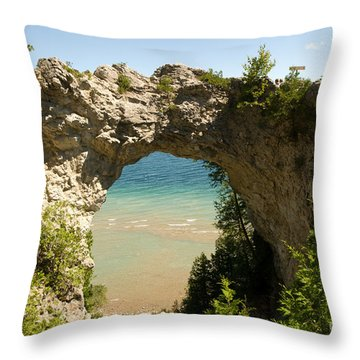 Mackinac Island Arch Throw Pillow