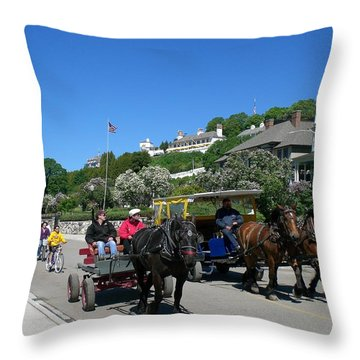Mackinac Island At Lilac Time  Throw Pillow